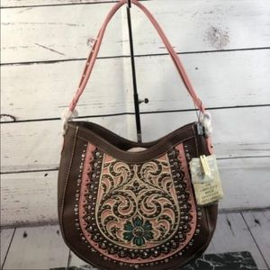 Montana West Concho Concealed Handgun Hobo Bag